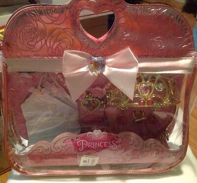 DISNEY STORE DISNEY PRINCESS COSTUME ACCESSORY SET JEWELRY CROWN -