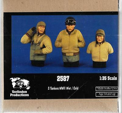 Verlinden WWII US Tankers, WET/COLD, 3 Half Figures 1/35 2587 ST