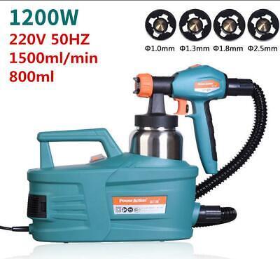 220v Electric Spray Gun Paint Latex Spraying Machine 1.01.31.82.5mm 1200w