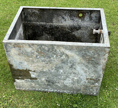 Vintage Reclaimed RIVETED Galvanised Water Tank would make ideal garden Planter
