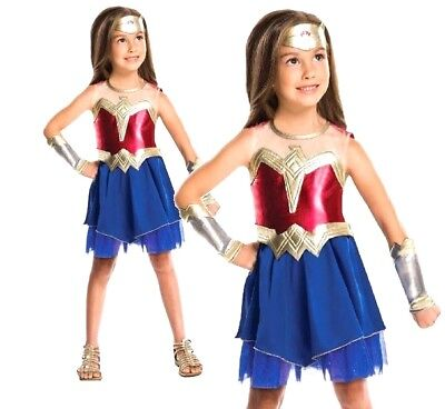 Child WONDER WOMAN Dawn of Justice Superhero TV Girl Fancy Dress Costume 3-10Yr  - Costumes Of Wonder Woman