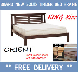 DELIVERED FREE Brand New KING Size Bed Frame SOLID TIMBER