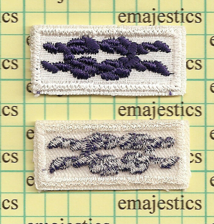 BSA SEA SCOUT QUARTERMASTER AWARD MEDAL SQUARE KNOT PATCH CLEAR BACK MINT