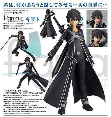 Sword Art Online 6'' Kirito Figma Action Figure Anime Licensed NEW