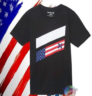 New Hurley Icon Slash Destination USA America T-Shirt (Destination Usa)