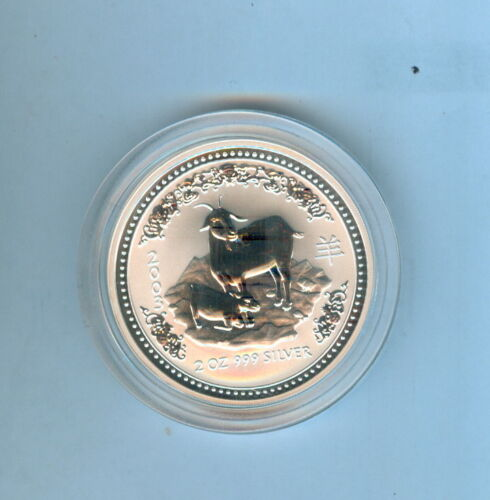 2003 GOAT AUSTRALIAN TWO DOLLARS 2 Oz. .999 SILVER - 1 COIN TOTAL