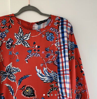 Zara Silk Blouse Size Large
