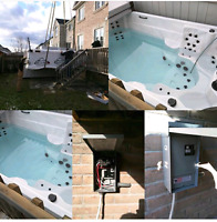 Hot tub hook up by licensed electrician