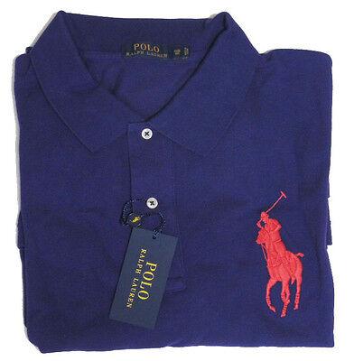 Ralph lauren mens solid big pony blue green purple grey for Black ralph lauren shirt purple horse