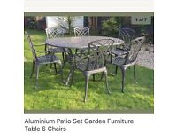 Garden Patio Set and 6 chairs