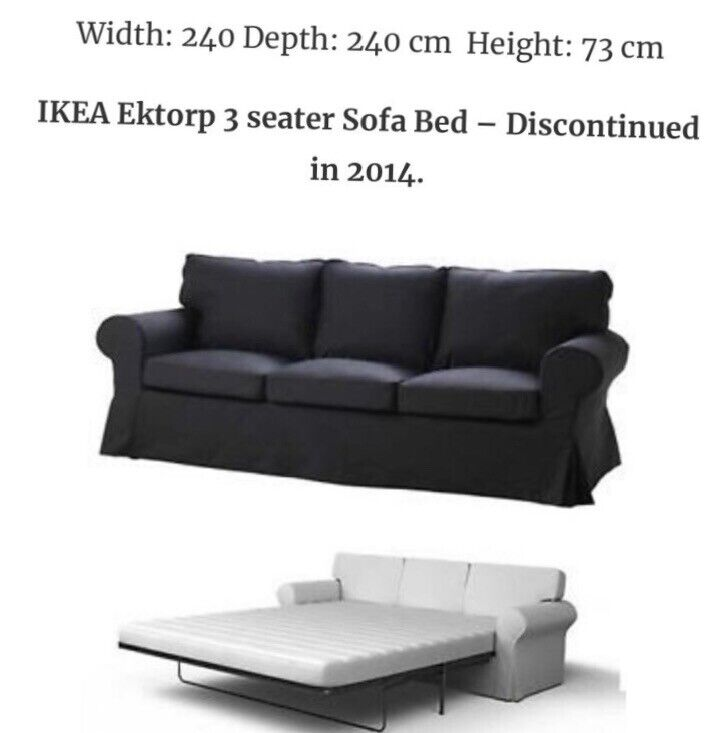 the best attitude 4b93e 456cb Ikea Ektorp 3 seater sofa bed barely used. | in Leicester, Leicestershire |  Gumtree
