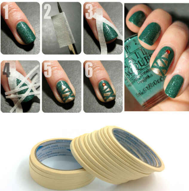 2pc Roll French Manicure Nail Art Tips Form Guide Sticker Polish DIY ...