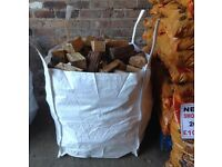 DUMPY BAG KILN DRIED ASH HARDWOOD LOGS SEASONED FIREWOOD ONLY £65.00 INCLUDING FREE LOCAL DELIVERY