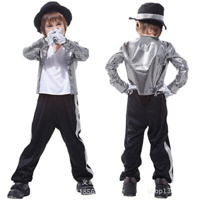 NEU Halloween Jungen Kinder 80s Michael Jackson Fancy Fasching Cosplay Kostüm