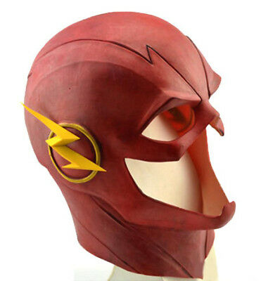 The Flash Mask The Flash 2 Movie Prop Deluxe Halloween Full Head Latex Mask ()