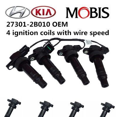 OEM Quality Ignition Coil 4PCS Pack for 2010-2011 Kia Soul 1.6L L4, 27301-2B010