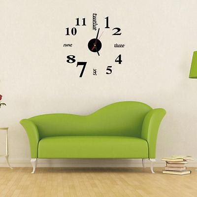 Moderno FAI-DA-TE Orologio Da Parete 3D Adesivo Design Casa Ufficio Decorazione