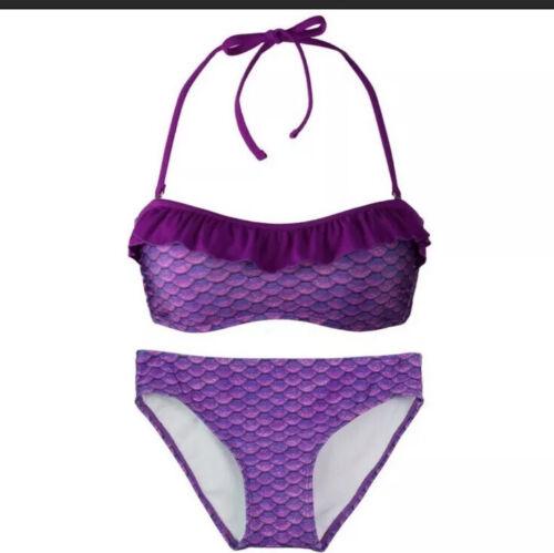 NEW NWT Fin Fun girls Mermaid Bikini Scales Bathing Suit 2/p