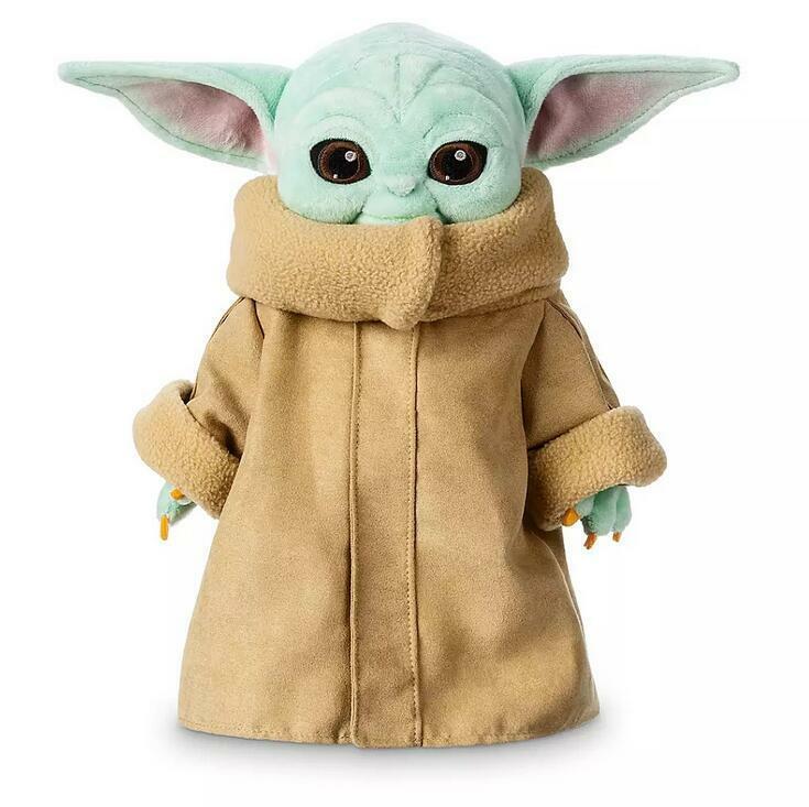 23CM Baby Yoda The Mandalorian Force Awakens Master Stuffed Doll Plush Toy X1