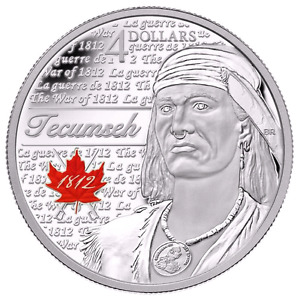 "2012 ""TECUMSEH"" HEROES of 1812 SILVER COIN-MINT!!!"