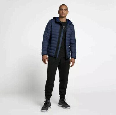 Large Nike LeBron James Navy Blue Down Fill Hooded Jacket (927216-410) Men Nike Navy Blue Jacket