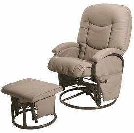 BabyLo Cloud Nine Glider Reclining Chair with Ottoman
