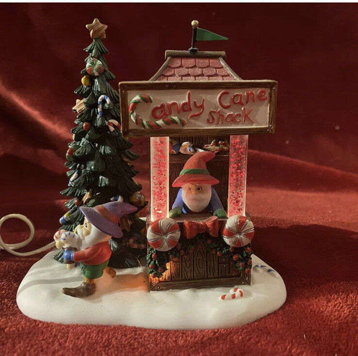Department 56 - Candy Cane Shack - North Pole Series Light Up #56859 EUC