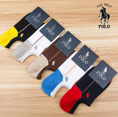 Men Socks Polo 1 5 Pairs Lot Athletic Casual Breathable Cotton  No Show Socks