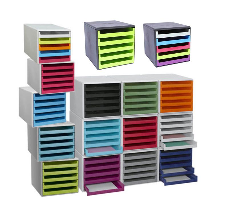 Schubladenbox 5 Schübe Ablagebox Briefablage Ablage BLITZVERSAND