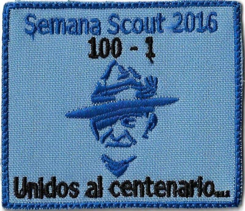 Semana Scout 2016 Unidos Al Centenario BLUE Bdr. [MX-11610]