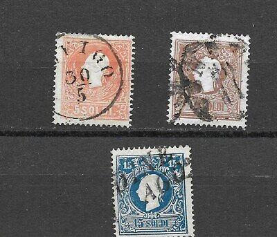Austria. L-V. # 10a, 11a, 12a.  $310