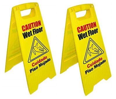 Magnolia Brush Bilingual Wet Floor Sign - 2 Pack