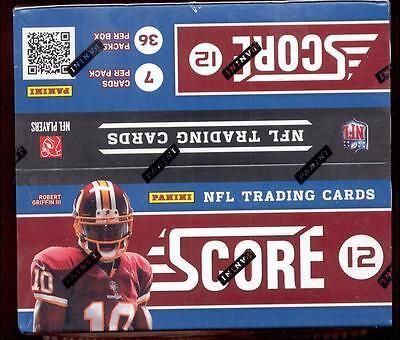 2012 Panini Score Football 36 pk Box 2012 Score Football Card