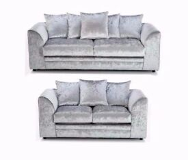 BRAND NEW DYLAN SOFA 3+2 OR CORNER IN CRUSH VELVET WITH EXPRESS CASH ON DELIVERY IN LONDON