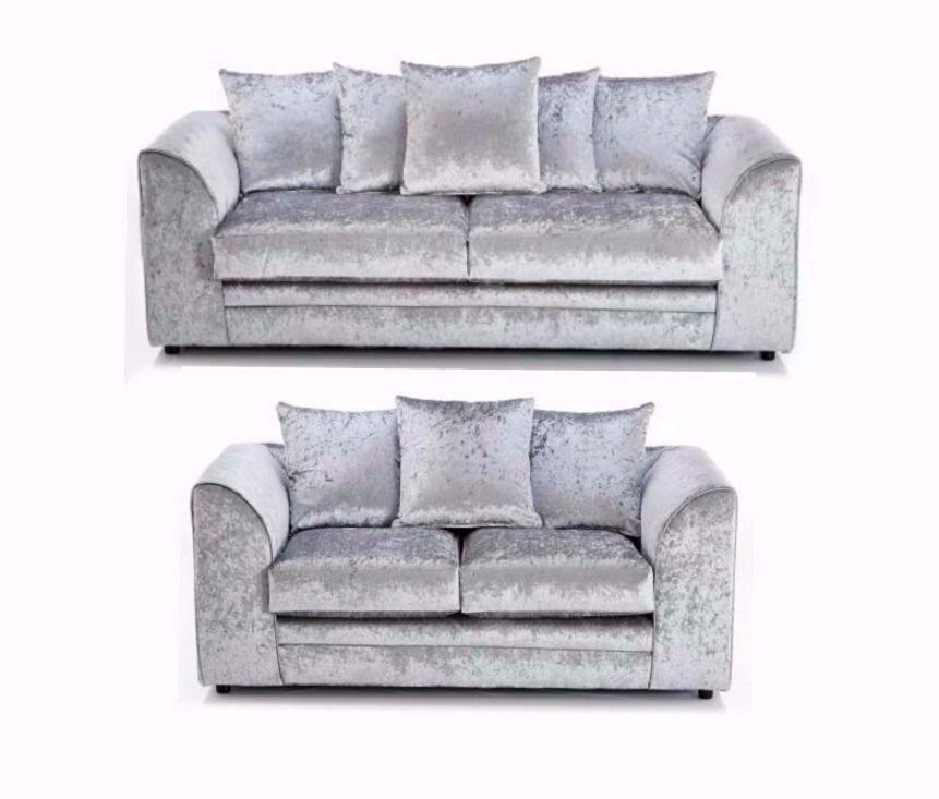 Stunning Looks Brand New Dylan Crush Velvet Sofa 3 + 2 Corner Right Left  Both Hands