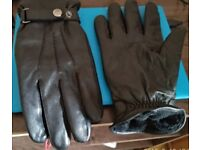 Winter Sheep Skin Leather Gloves
