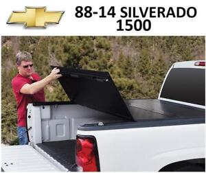 USED 88-14 SILVERADO TONNEAU COVER 226102 208461539 CHEVROLET TRUCK BED BAK BAKFlip G2 Hard Folding