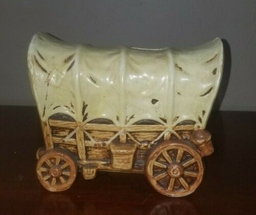VTG Covered Wagon Ceramic Bank