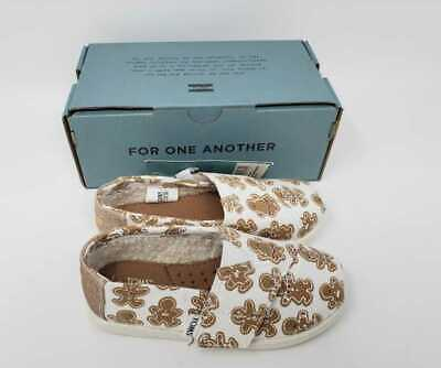 NEW GIRLS T9 TINY TOMS CLASSIC SUGARFROSTED GINGER GINGERBREAD CHRISTMAS SHOES