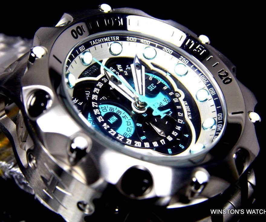 $499.00 - Mens Invicta Reserve Venom Hybrid Master Calendar Silver Tone Blue Watch New