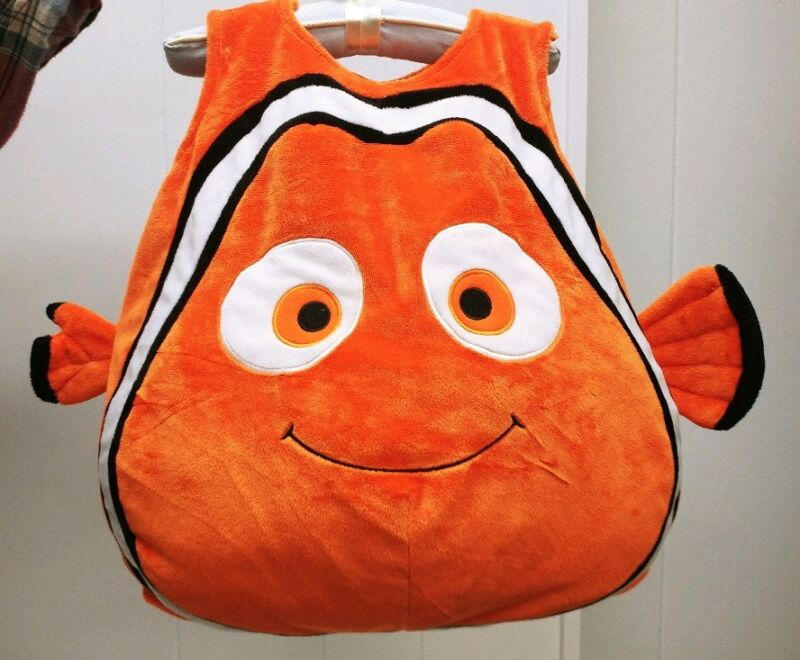 DISNEY FINDING NEMO COSTUME SZ 12 MOS ORANGE CLOWN FISH HALLOWEEN DRESS UP