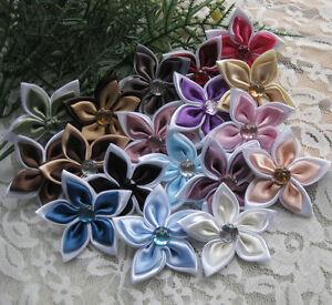 20x-Fancy-2tone-Ribbon-flower-Bauhinia-Appliques-Craft-Wedding-Lots-Upick-A1027