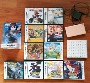 Used/New games (PS1/2/3, VITA, DS), Lucina amiibo, pink DS Lite