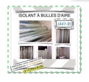 (#49-440) ISOLANTS À BULLES D'AIR ~ {0.10$ /P.C} - 35.00$ /ROUL.