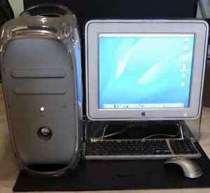 Apple Mac G4 Quicksilver 733 Bundle with Studio Display + extras