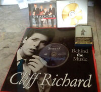Cliff Richards, The Shadows, CDs & book &Dvd of His Life