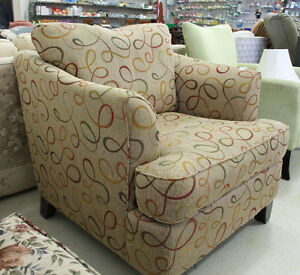Patterned Comfy Chair @ Habitat ReStore in Cobourg