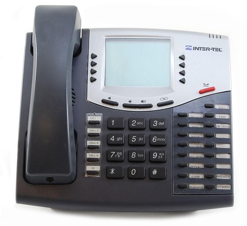 Lot Of (10) Refurbished Intertel Axxess 550.8660 6-line Ip Display Phone (grey)