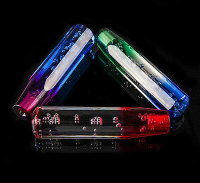 Universal shifter gear Crystal Air Bubble Shift knob Purple & Blue 10CM #HA2