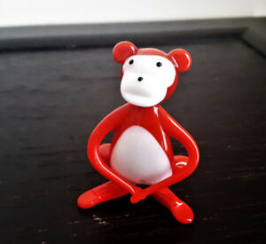 Miniature Hand Blown Art Glass Monkey Figurine